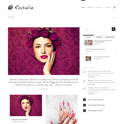 rosalie website home