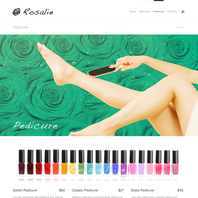 rosalie website pedicure