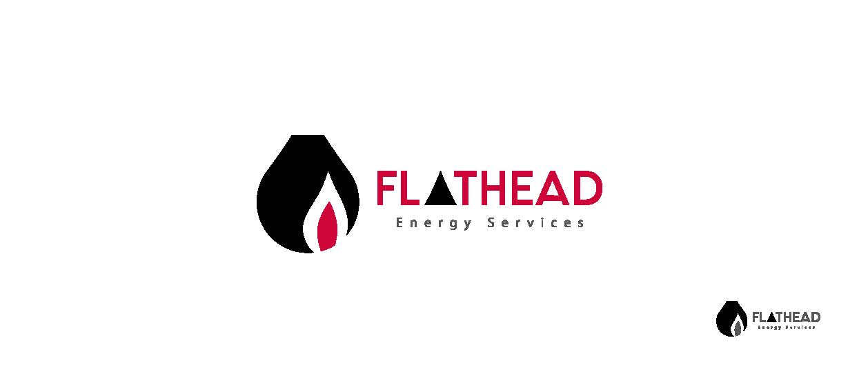 service logo design flathead energy services