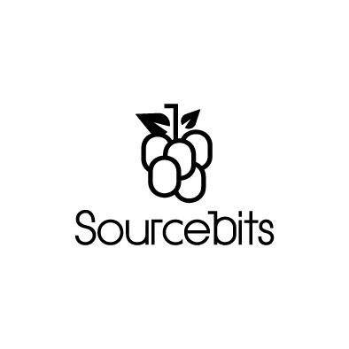 sourcebits logo berry bunch black