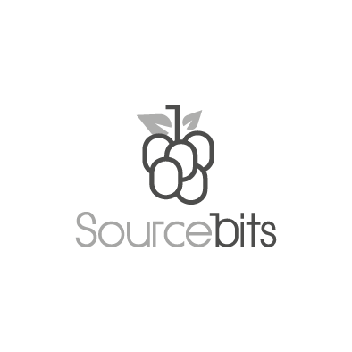 sourcebits logo berry bunch greyscale