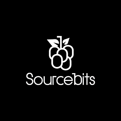 sourcebits logo berry bunch white