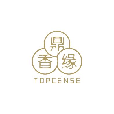 topcense logo chinese triune harmonies circle gold