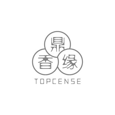 topcense logo chinese triune harmonies circle greyscale