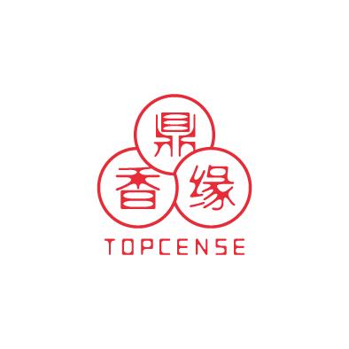 topcense logo chinese triune harmonies circle red