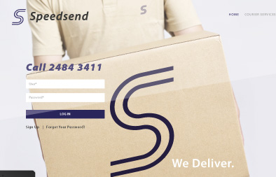 Company Website Design for Speedsend Singapore