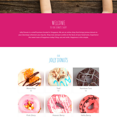 jolly donuts website about