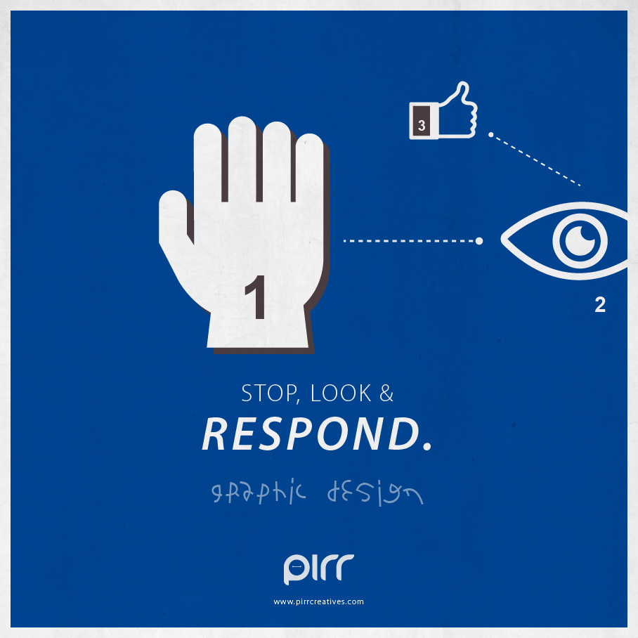 04 graphic design stop look and respond