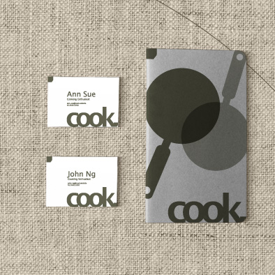 cook visual identity note book namecard