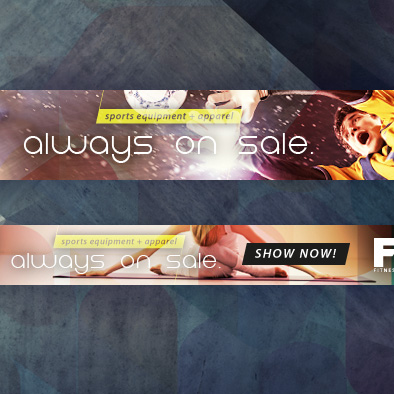 fitness and training web banner landscape