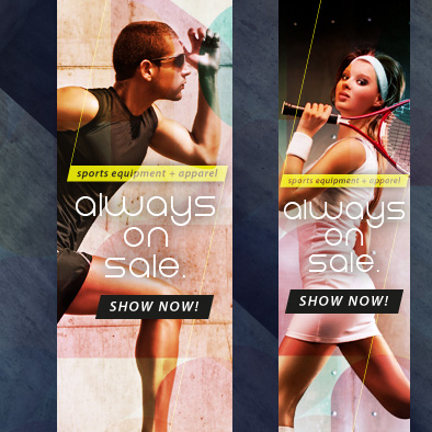 fitness and training web banner portrait