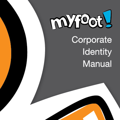 myfoot corporate identity manual cover