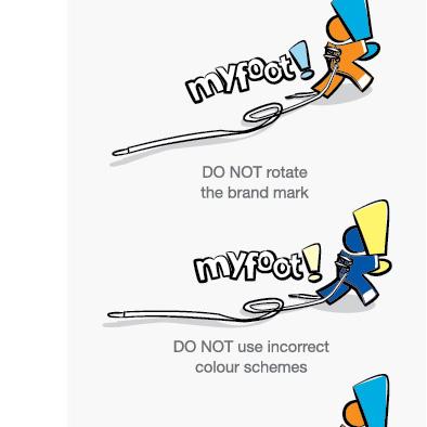 myfoot corporate identity manual logo misuse