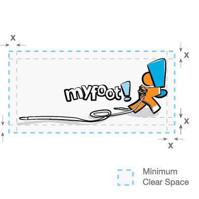 myfoot corporate identity manual minimum clear space