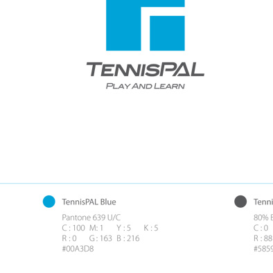 tennispal brandmark manual colour specification