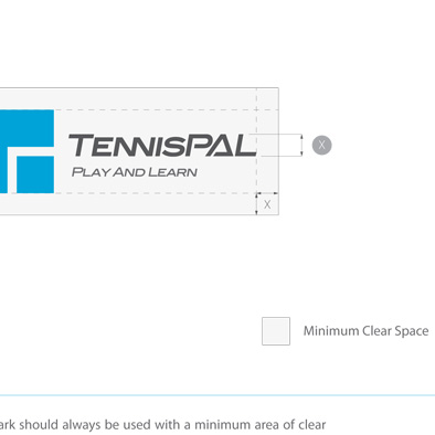 tennispal brandmark manual minimum clear space