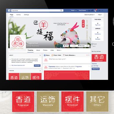 topcense brand identity facebook cover profile photo picture