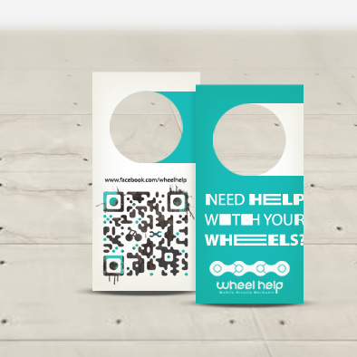 wheel help brand identity name card
