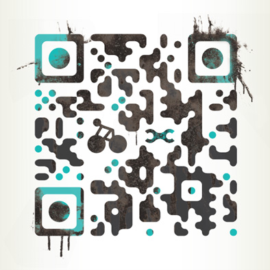 wheel help brand identity qr code