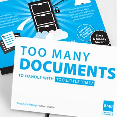 amd software leaflet design blue