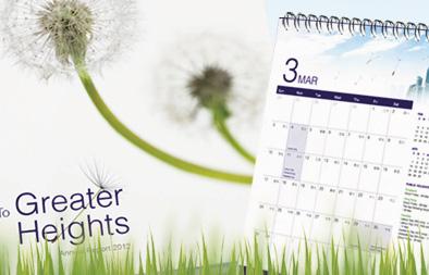 Annual Report and Desktop Calendar Design for Boardroom