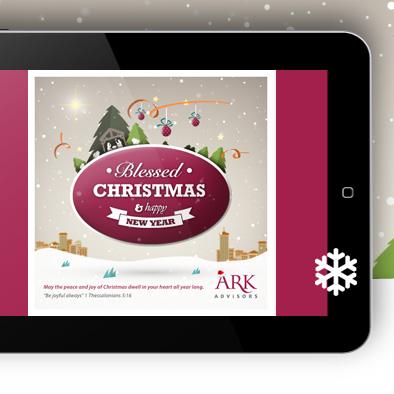 ark advisors christmas ecard design mockup