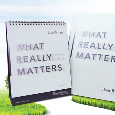 boardroom matters corporate brochure desktop calendar design cover