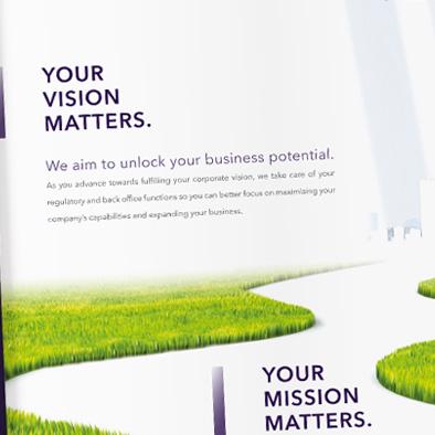 boardroom matters corporate brochure desktop calendar design vision mission