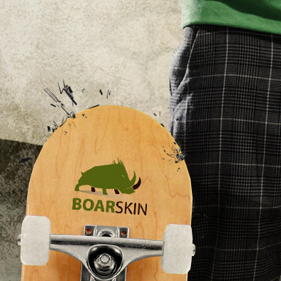 boarskin poster flyer design skateboard