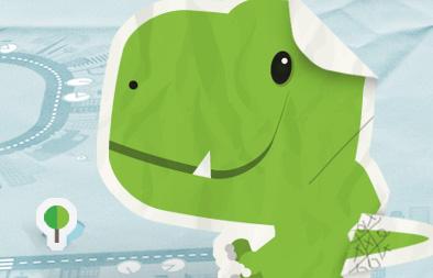 Brand Mascot Design, Eco Dino