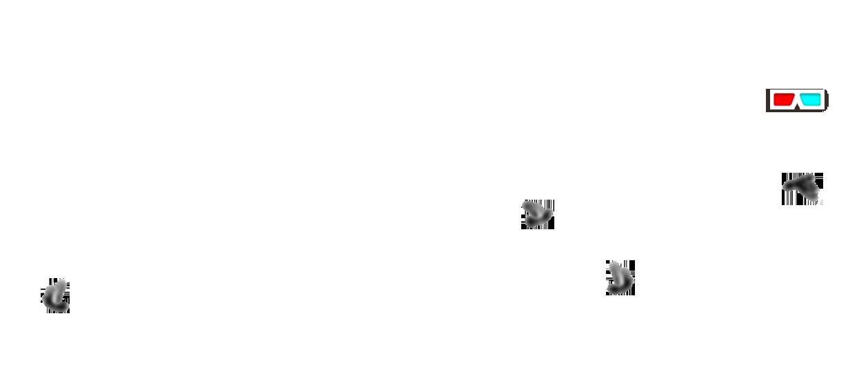 character design illustration anaglyph 3d