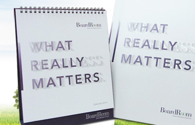 Corporate Brochure and Desktop Calendar Design for Boardroom