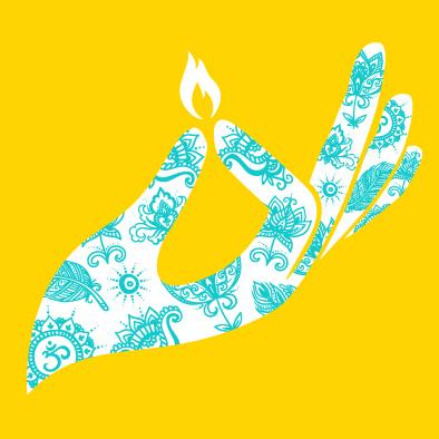 diwali deepavali greeting card hand indian henna tattoo