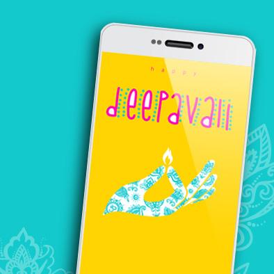 diwali deepavali greeting card phone