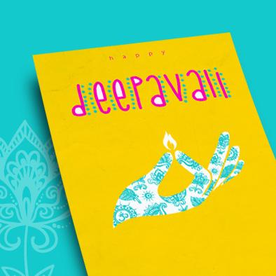 diwali deepavali greeting card print