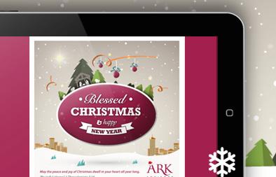Christmas eCard Design for Ark Advisors