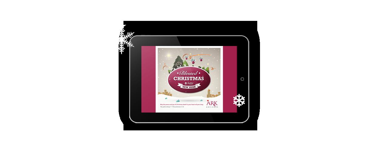 ecard card design christmas ark advisors