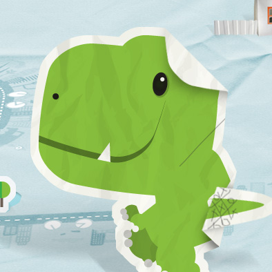 eco dino mascot design young