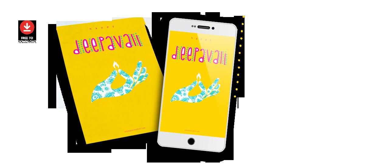 free deepavali greeting card design