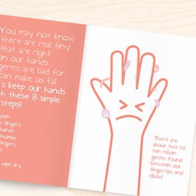 little twinkles student handbook design germs hand