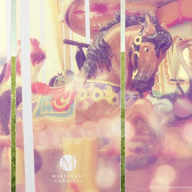 merriment carnival pull up banner carousel