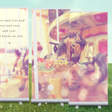 merriment carnival pull up banner series