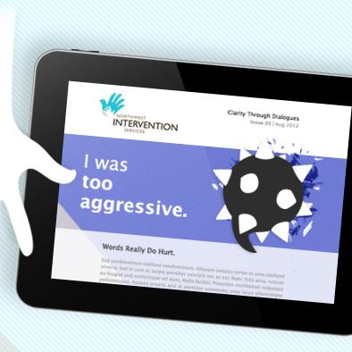 northwest intervention services enewsletter design too aggressive