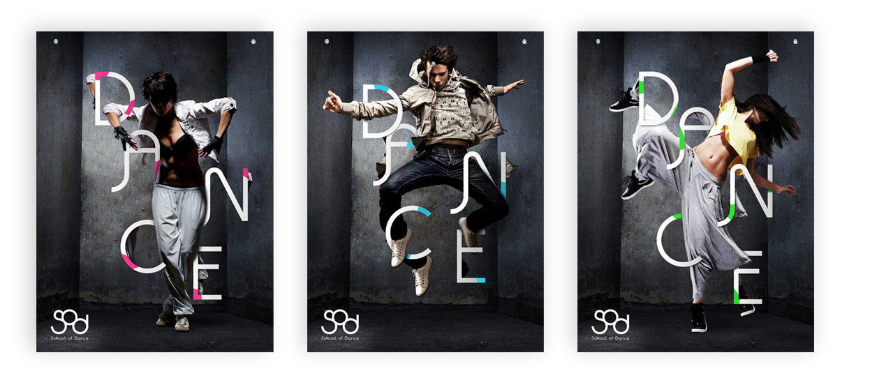 poster design dance school