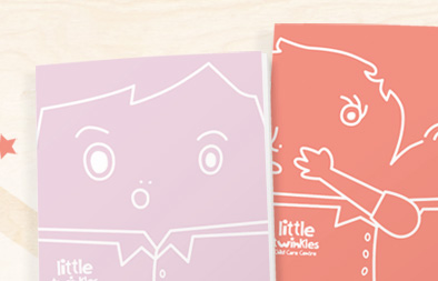 Student Handbook Design for Little Twinkles