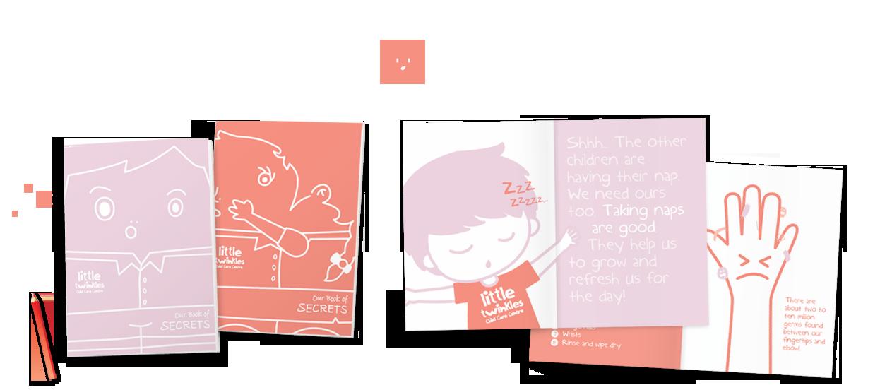 student handbook design book child care centre