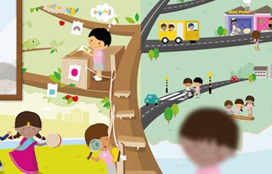 Wall Sticker Design for Yio Chu Kang Chapel Kindergarten
