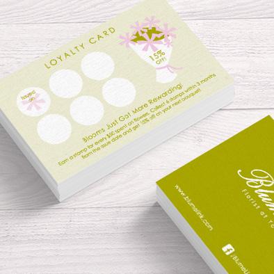 blume link florist brand identity loyalty card