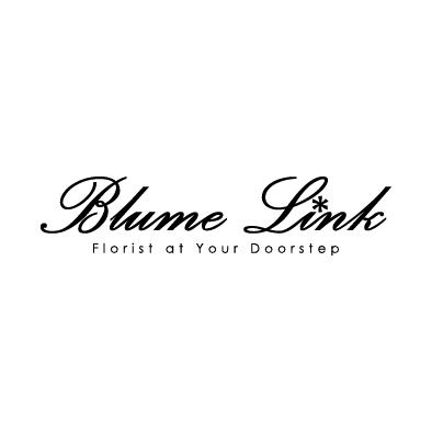 blume link logo florist flower black