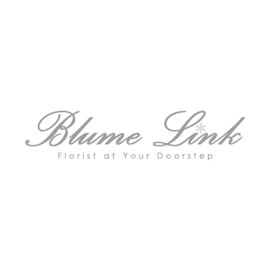 blume link logo florist flower greyscale